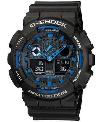 Casio G-Shock Analogue/Digital Mens Black XL Series Watch GA-100-1A2DR