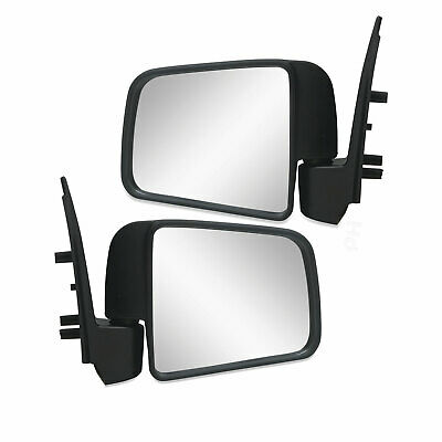 Ford Courier PG PH Ute 2002-2006 PAIR LH+RH Black Manual Door Mirrors Brand NEW