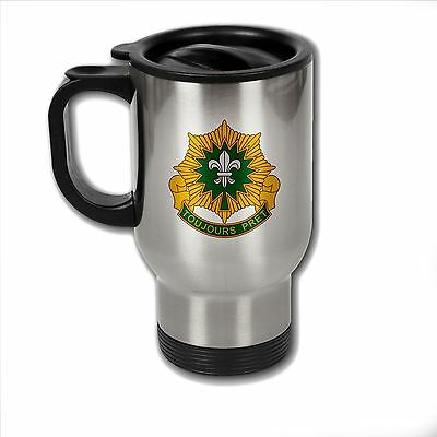 Stainless Steel Mug with U.S. Army 2nd Cavalry Regiment distinctive insignia