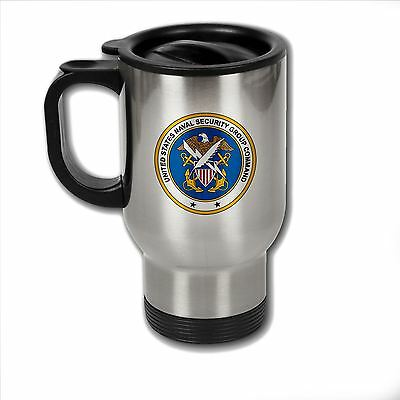 Stainless Steel Mug with U.S. Naval Security Group Command obsolete insignia