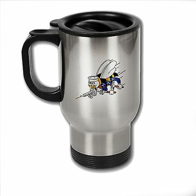 Stainless Steel Mug with U.S. Naval Construction Force (CBs SeaBees) logo