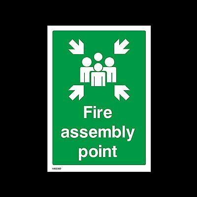 Fire Assembly Point - Plastic Sign, Sticker - All Sizes - MISC132