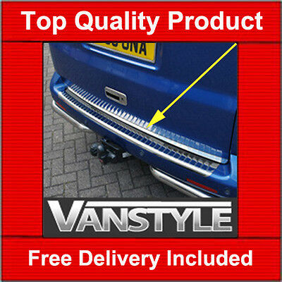 Vw T5 Tailgate Chrome Edge Protector Trim Stainless Steel Caravelle 2003+ 2010+