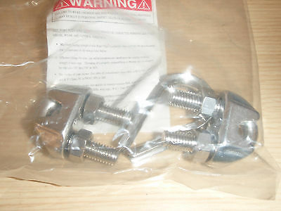 Clip & Thimble Kit, Cable Size 5/16In, Stainless Steel, !59C!