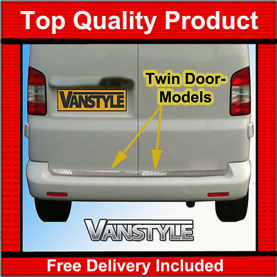 Vw T5 Twin Rear Door Chrome Edge Protector Trim Stainless Steel Caravelle 03-15