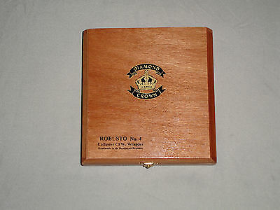 DIAMOND CROWN ROBUSTO NUMBER 4 WOODEN CIGAR BOX