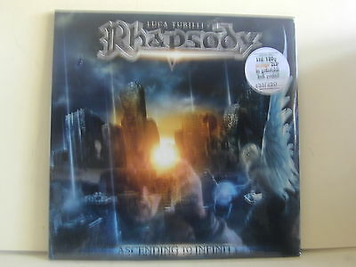 2Lp-Poster-Rhapsody-Luca Turilli-Vinili Colorati Orange-Sigillato-133/250