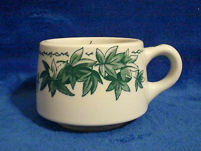 Vintage Shenango Rare Green Leaves Coffee Cup Mug Restaurant Ware 1951 made USA