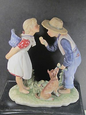 """Norman Rockwell Gorham Four Seasons Spring BEGUILING BUTTERCUP 8"""" First Edition"""