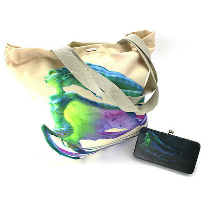 Maleficent Water Fairy Large Canvas Tote Bag and Clasp Wallet Set EMMF905557
