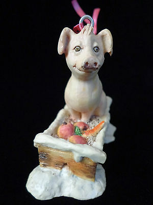 Lowell Davis PIG Ornament Figural TROUGH Country Christmas 1985 ~ FREE SHIPPING