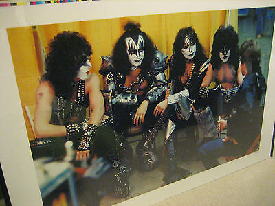 1982-83 RARE KISS POSTER VINNIE VINCENT ERIC CARR  ELDER LP CREATURES ALBUM