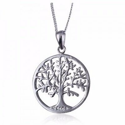 NEW Genuine Solid 925 Sterling Silver Tree Of Life Pendant & Solid 925 Necklace