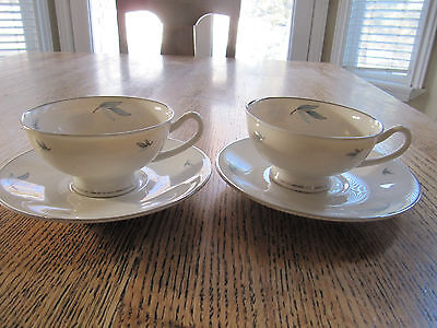 2 SYRACUSE CELESTE CUP AND SAUCER SETS - EXCELLENT!