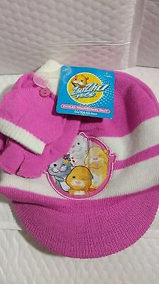 Zhu Zhu Pets Cold Weather Set Light Pink Hat Gloves New With Tags Beanie