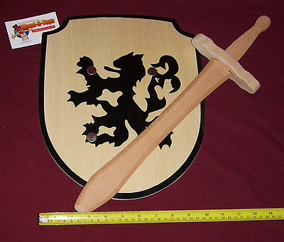 Sword and Shield set -Lion Rampant design