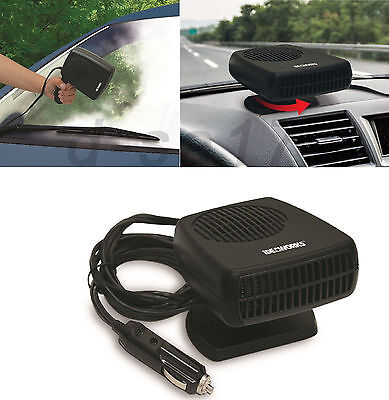 12V 2 In 1 200W Car Fan Heater Cooling Fan Windscreen Demister Defroster