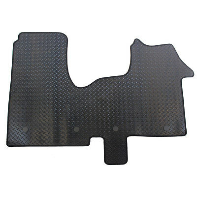 Renault Trafic MK III 2014+ Fully Tailored 1 Piece Rubber Van Front Mat 4 Clips