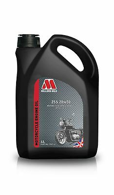 Millers Oils ZSS 20w50 Motorbike Semi Synthetic 4T Motorcycle Engine Oil 4 Litre