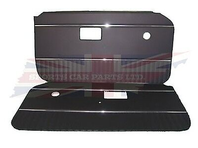 New Pair of Black Door Panels with Chrome Strip for MGB 1970-76 UK Made DP126A