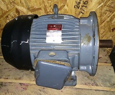Brook Crompton 10 HP AC Motor Part No. 2424111C-04 ~ 3485 RPM ~ 460 V ~ TEFC
