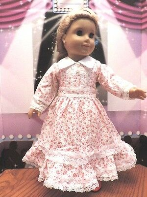 """Doll Clothes 18"""" Victorian Red and White Dress Fits American Girl Dolls"""