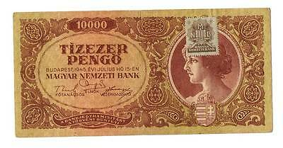 1945 Hungary Soviet Occupation 10000 Pengo Banknote