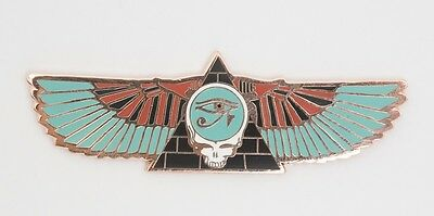Grateful Dead Steal Your Face Egyptian Pyramid Wings w/ Eye of Horus Copper