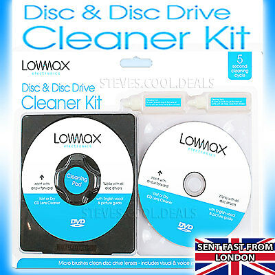 DISC DOCTOR Fluid PS4 PS3 PS2 Wii XBOX ONE 360 BLU RAY DVD CD Cleaner
