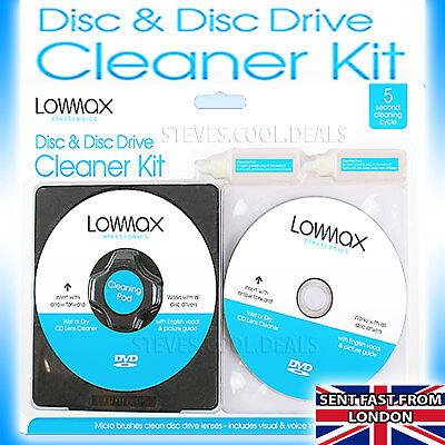 Laser Lens Cleaner Consoles Fluid PS3 PS2 XBOX 360 BLU RAY DVD CD Clean DISC PS4