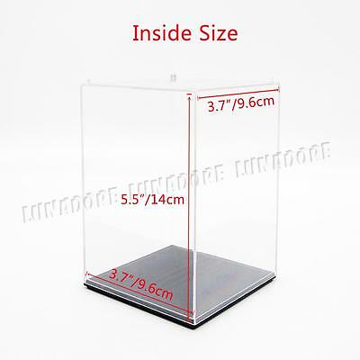 "UV Acrylic/Plastic Display Box Case Dustproof Tray Protection 3.9""x3.9""x5.5""H"