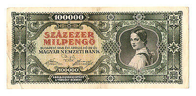 1946 Hungary Hyper Inflation 100.000 milpengo  / 100000000000 pengo