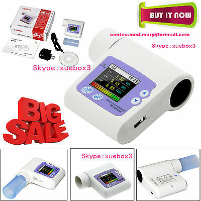 Digital Spirometer Lung Condition Check,VC Pulmonary Function,PC Software,SP10