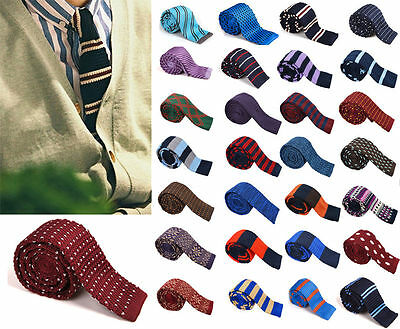 Fashion Men's Colourful Tie Knit Knitted Tie Necktie Narrow Slim Skinny Woven t