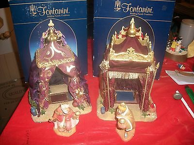 2 FONTANINI TENTS KING GASPAR'S AND KING MELCHIOR'S WITH 2 FIGURES
