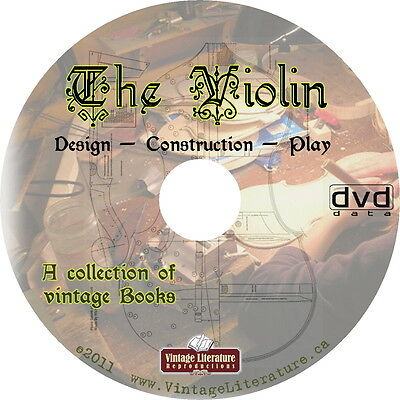 Violin History { 40 Design & Construction Books ~ Plans and Patterns } on DVD