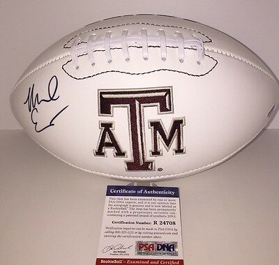 Mike Evans Signed Texas A&m Aggies Football Psa Rookie Cert