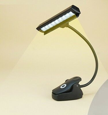 LED Piano Lamp - Orchestra Music Stand Clip-on Light - Adapter USB and Battery