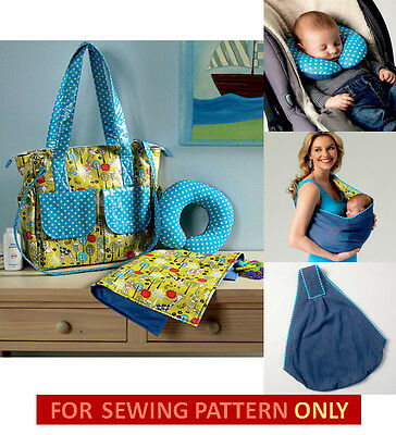 Sewing Pattern! Make Baby Accessories! Neck Support Pillow~Sling Carrier~Bag~Pad