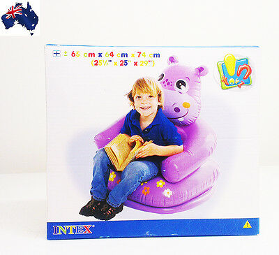GENUINE AUS QLTY Kids Inflatable Armchair Sofa Hippo-Gr8 Fun Pool/Indoor/Outdoor