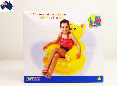 GENUINE AUS QLTY Kids Inflatable Armchair Sofa Teddy-Gr8 Fun Pool/Indoor/Outdoor