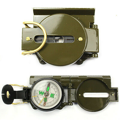 US Army Military Utility Hiking Survival Camping Rescue Gear Lensatic Compass