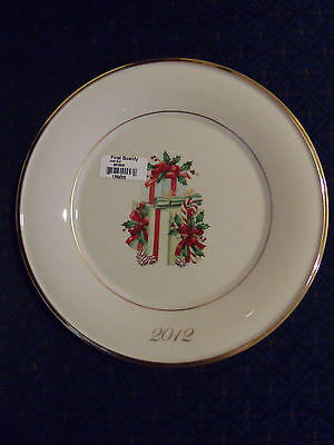 FREE S&H Lenox 2012 Annual Holiday Accent Collector Plate Firat Quality NWT