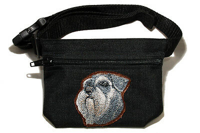 Embroidered Dog treat pouch bait bag for dog show, training. Breed - Schnauzer