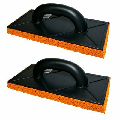Orange Soft Rubber 18mm Sponge Float 280 x 140mm Plastering, Skim Render Trowel