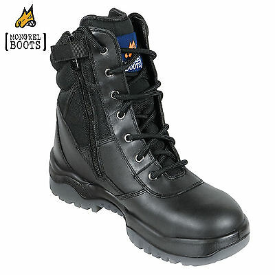 *NEW!* Mongrel BLACK HIGH LEG ZIPSIDER FULLY LINED NON-SAFETY BOOT 951 020