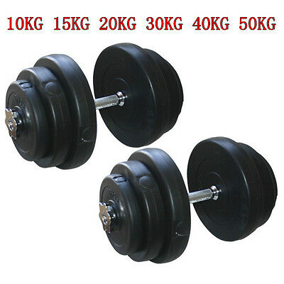 Dumbbells Set Weight Vinyl Gym Workout Biceps Triceps Home Training Fitness