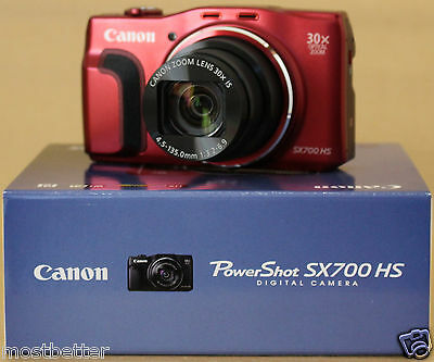 Used Canon PowerShot SX-700 HS 16.1 MP Digital Camera Red from Japan