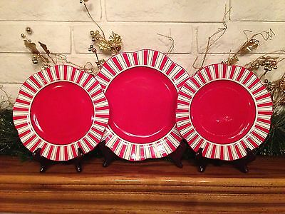 Pier 1 Imports Candy Cane Plates