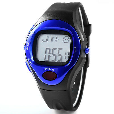 Leatheroid Band Burn Counter Pulse Heart Rate Monitor Sport Calorie Wrist Watch